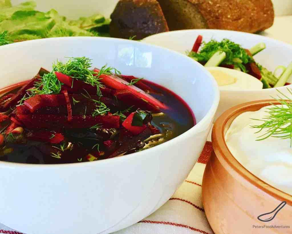 Cold Beet Soup - Svekolnik (Свекольник)