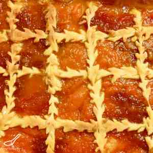 Apricot Pie Russian Pirog with Jam