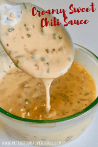 So quick and easy to make, you might never buy tartar sauce again. This versatile Creamy Sweet Chili Sauce will be your new favorite seafood sauce alternative, salad dressing, fry sauce and dip, just don't tell people how easy it was to make.