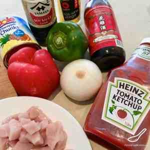 Sweet and Sour Pork Ingredients