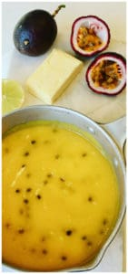 This silky and smooth Passionfruit Curd recipe or Passionfruit Butter is so delicious and easy to make. Fresh ripe passionfruit, eggs, sugar and butter, heated and whisked to perfection.