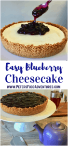 No Bake Blueberry Cheesecake is so easy to make, a timesaver that can be prepared in advance. Made with vanilla bean cream cheese on a cookie base, topped with blueberries.
