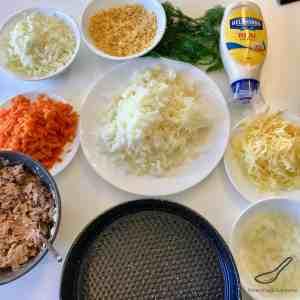 Mimoza Salad ingredients