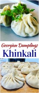 You've got to try Georgian Khinkali (Хинкали). Popular in Russia and across the former Soviet Union. Broth filled meat dumplings mixed with Cilantro, Blue Fenugreek, Cumin and more! Khinkali Recipe (Хинкали)