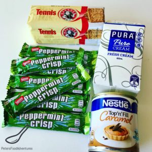 Peppermint Crisp Tart ingredients