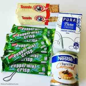 Peppermint Crisp Tart ingredients