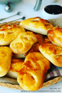 Sweet and delicious, Apricot Piroshki are a tasty yeast dough pastry made from dried apricots (or prunes). Similar to Apricot Kolaches. (Пирожки с абрикосами)