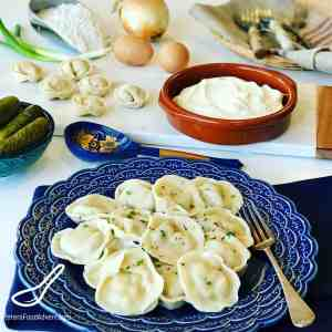 Winter is the perfect time to make Pelmeni (Пельмени). A boiled Russian dumpling made with a juicy meat filling, traditional comfort food. Pelmeni are found in every Russian's freezer, and popular in former Soviet States. Similar to Vareniki, Pierogies, Uszka, and Manti. From Russia with love.