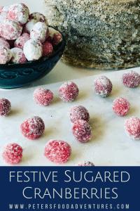 festive sugared cranberries