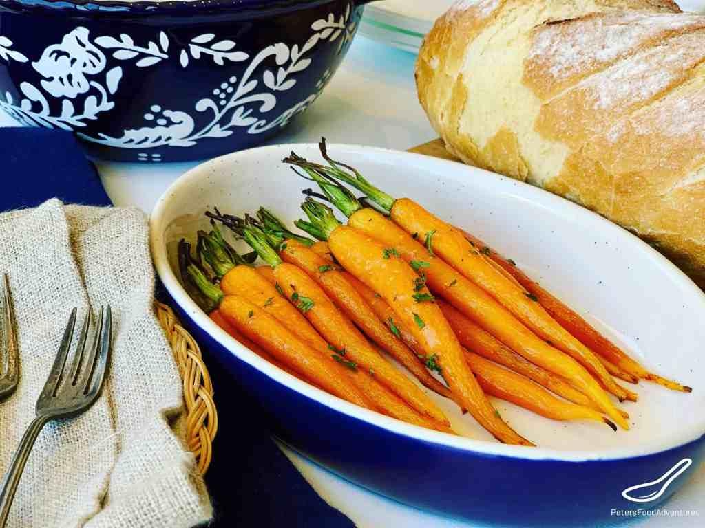 Honey Soy Roasted Carrots