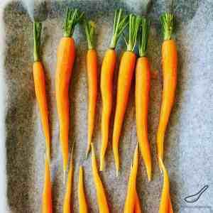 Roasting Carrots on a Tray