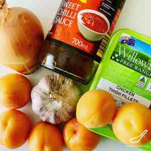 Fresh Apricot Chicken ingredients