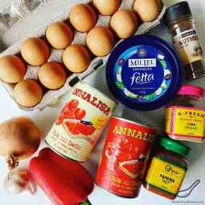 Shakshuka ingredients
