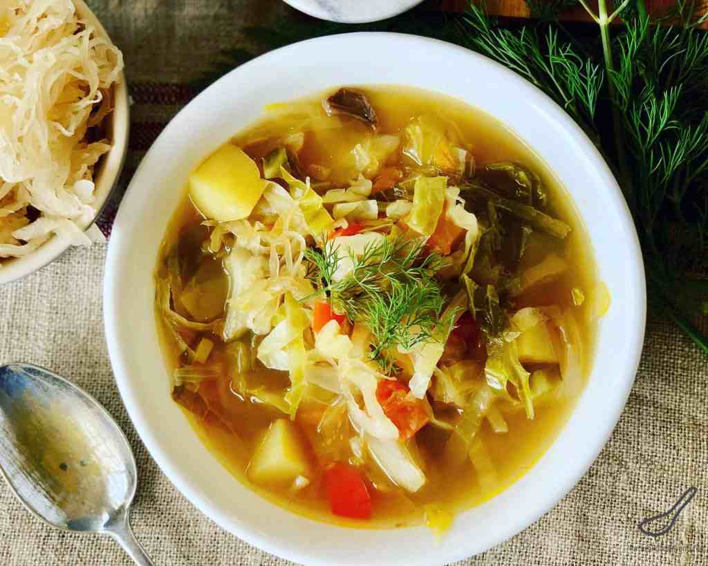 Cabbage Soup with Sauerkraut