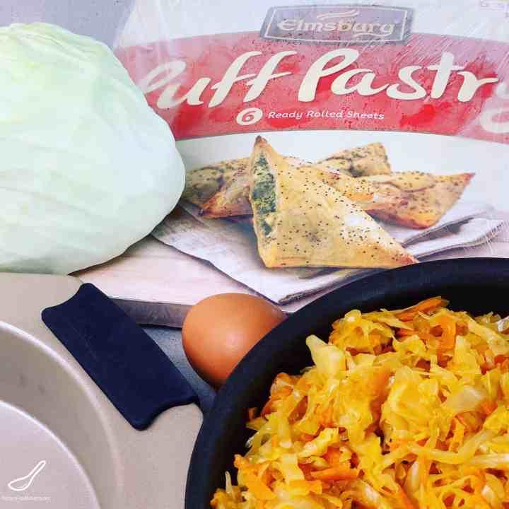 Cabbage Pie ingredients