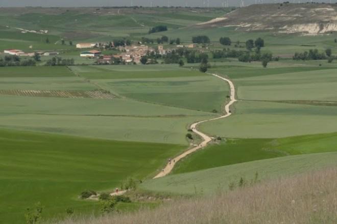 Jakobsweg bei Hornillos del Camino, Foto Gert Kleinsteuber