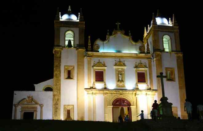 Olinda, Kirche am Abend