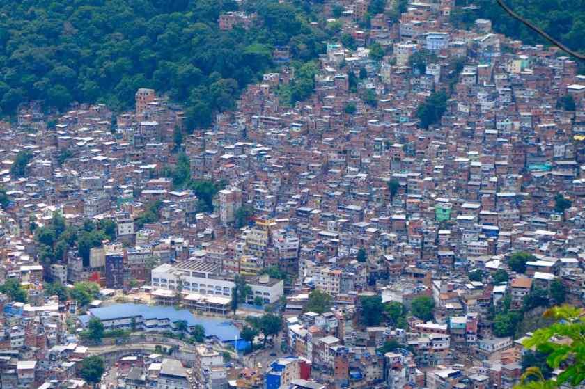 Rio de Janeiro Dois Irmaos - Blick auf Favela Vidigal