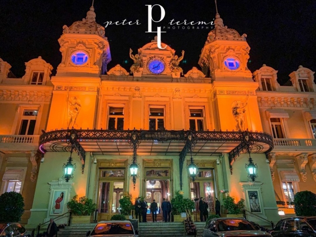 Casino De Monte-Carlo - Exterior At Night