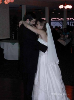 "Bride and Groom's first dance: ""Open Arms"" by Journey."