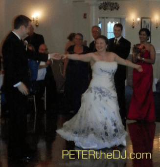 Bethany and Andy's first dance