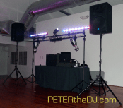 Indoor DJ setup for the reception