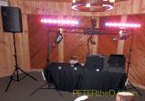 DJ Setup on the dance floor, downstairs at Dibbles Inn.