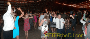 Dancing the night away at Rina and Jeff's wedding reception!