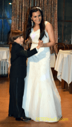 The bride dances with her brother