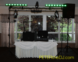 Traditions at the Links had the DJ table in a slightly different location than my previous gigs here, but it worked just as well!