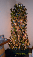 A sparkling tree of Glenora wine bottles graces the entry to Glenora's Veraisons Restaurant