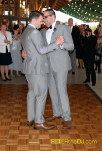 Matt and Justin's first dance