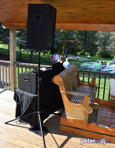 Outdoor system to cover ceremony and cocktail hour. Click for full-size image.