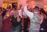 Peter Naughton provides DJ, MC, dance floor lighting and uplighting for a wedding reception at Lincklaen House in Cazenovia, NY