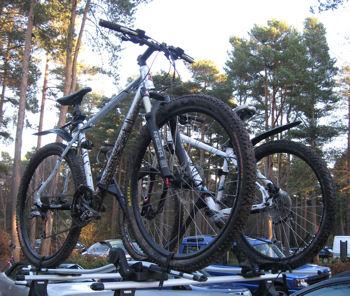 Two hard tail mountain bikes