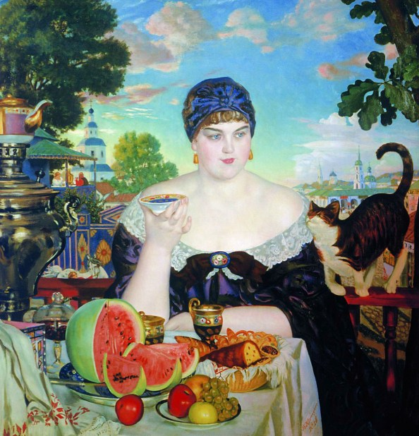 Kustodiev_Merchants_Wife