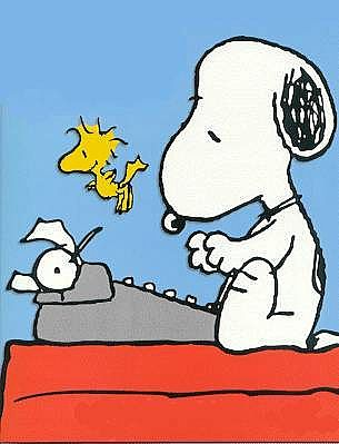 Snoopy-Writing-Life