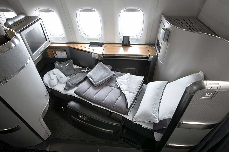American Airlines Casper Onboard Bedding