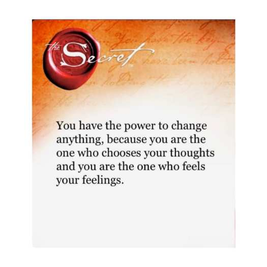 You have the power to change.