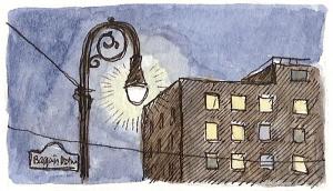 lamppost-night