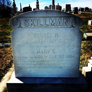 George R. Skillman's Grave in Mt. Olivet Cemetery