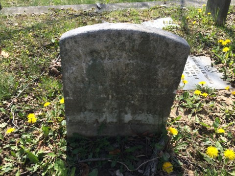 William W. Goldsborough's Original headstone. The effects of time have worn hard.