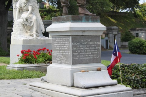 More information from Davis' monument. - <i>Photo by John Dolan</i>