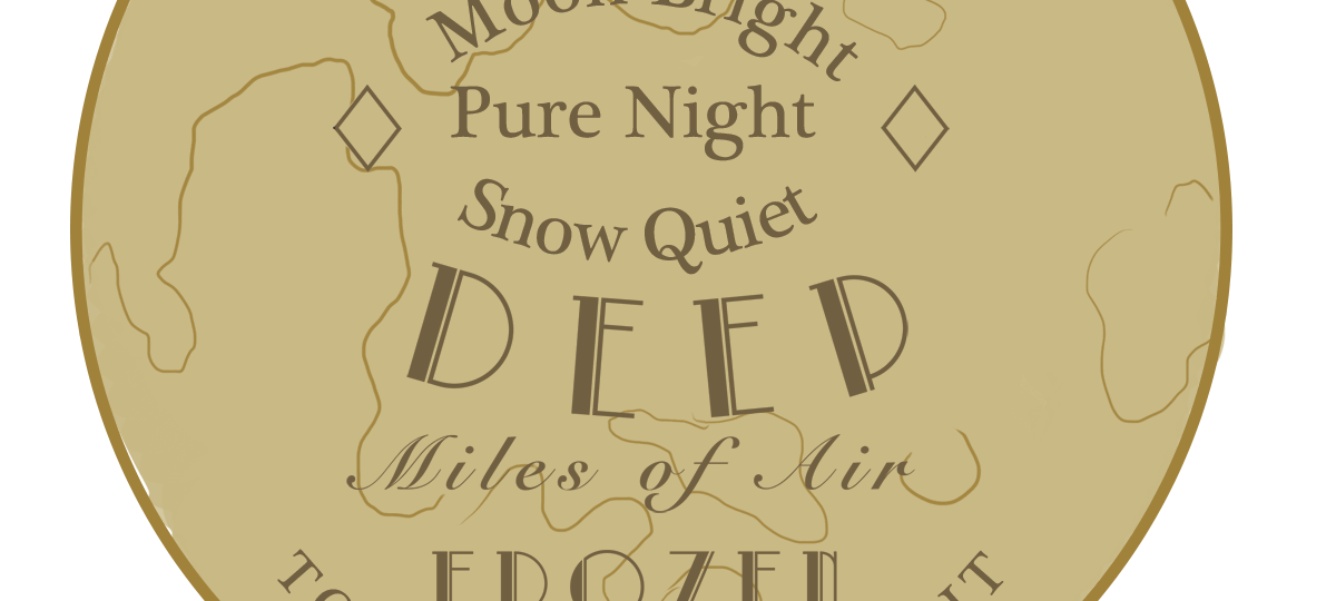 My little moon Dance Moon bright Pure night Snow quiet Deep Miles of air Frozen To frame this night