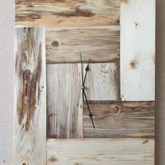 spalted, wood, klok