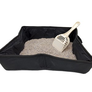 Collapsible Cat Litter Box Combo Scoop and Litter