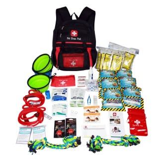 2 big dog emergency survival kit, earthquake, hurricane, fire