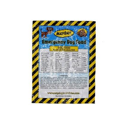 Mayday Emergency Dog Food Label