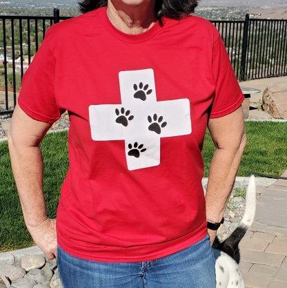 Pet Evac Pak T-Shirt Red