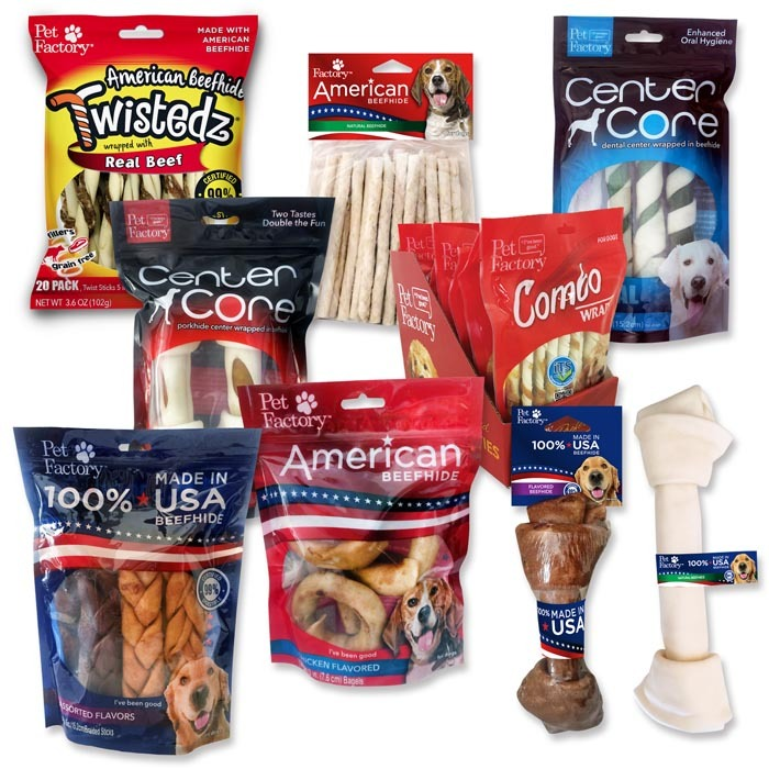 American manufacturer of rawhide bones and treats